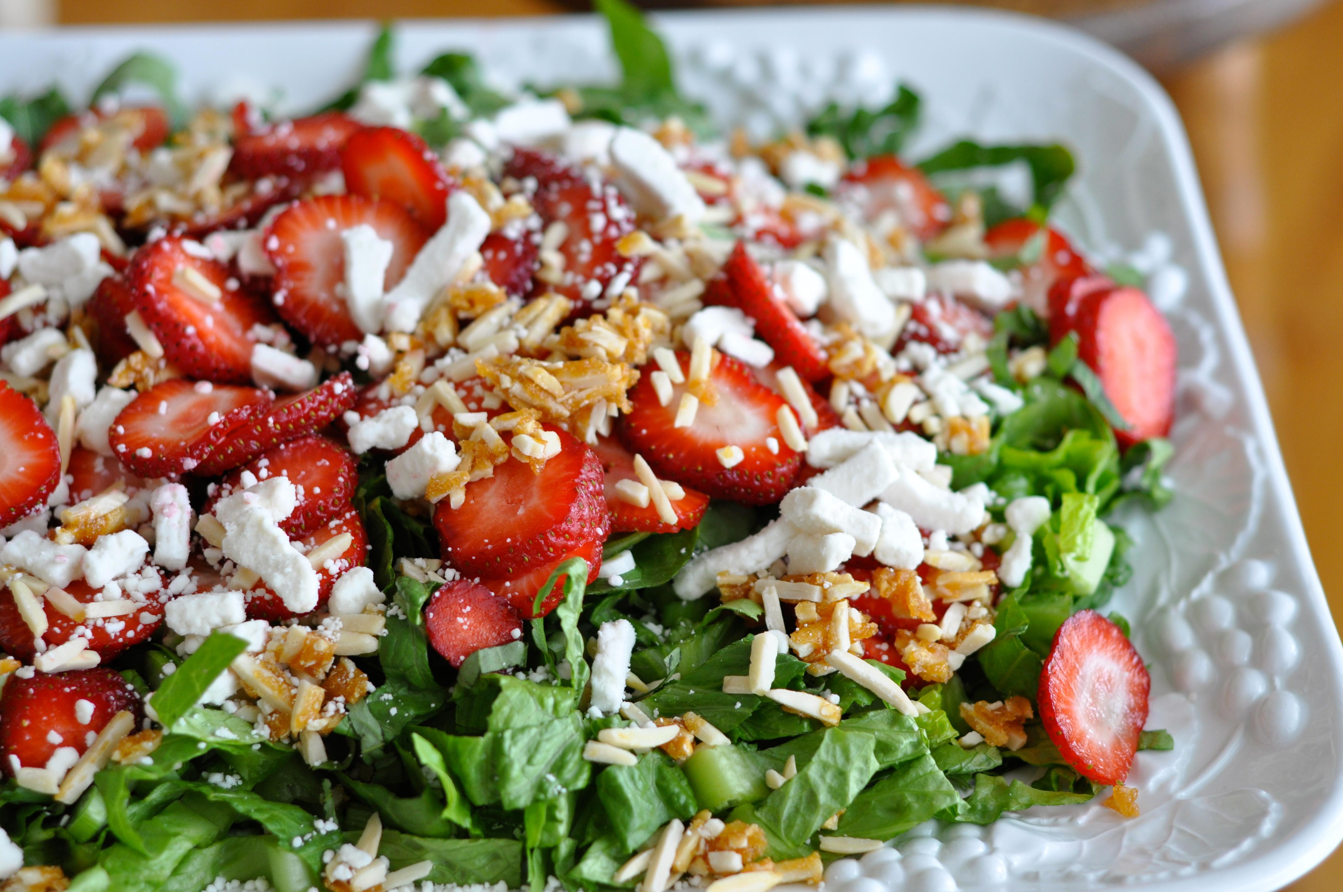 Strawberry Basil Salad with White Balsamic Vinaigrette ...