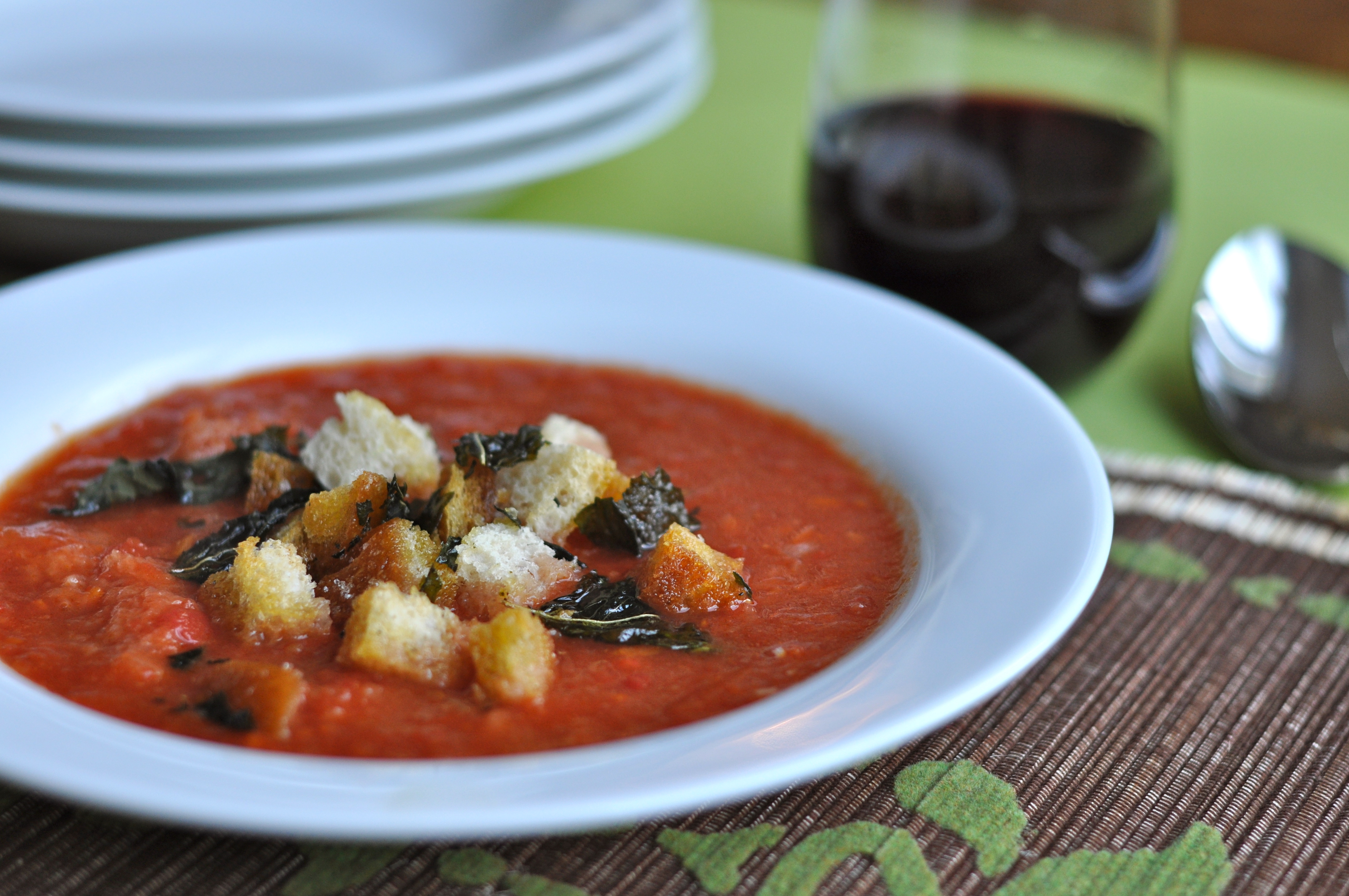 Tuscan Tomato Soup | Just Pinch Me